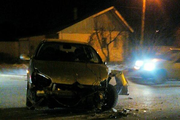 Водителя иномарки спасли от травм сработавшие подушки безопасности