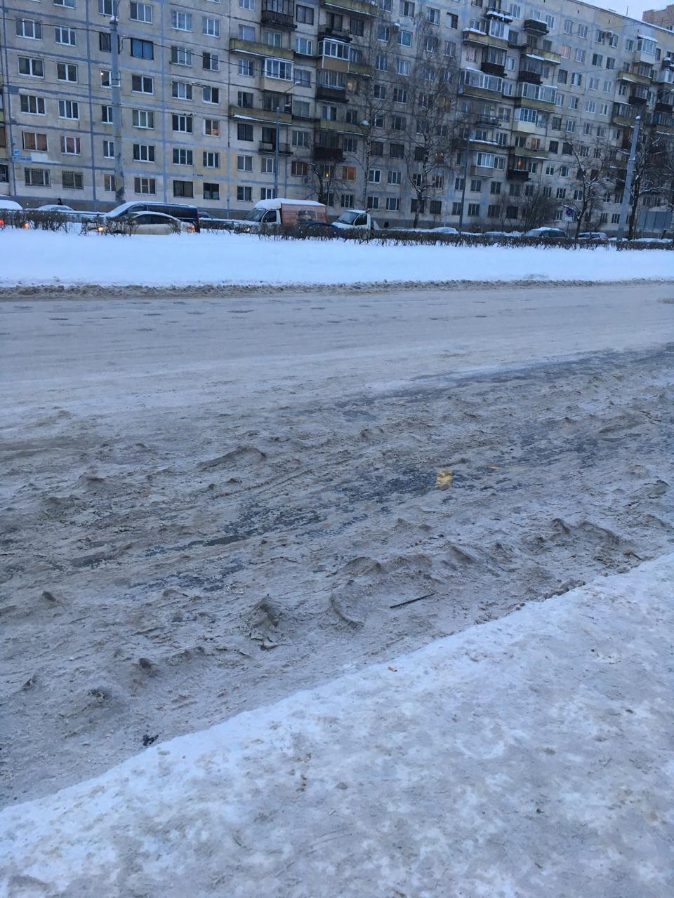жалобы петербуржцев на неубранный снег
