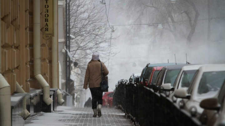Аварии и снег: в Ростове на дорогах серьёзные пробки
