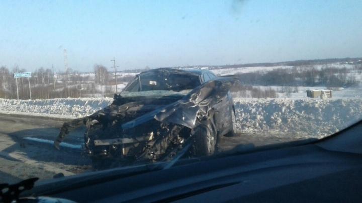 Подробности аварии на М-8: пострадали четыре человека