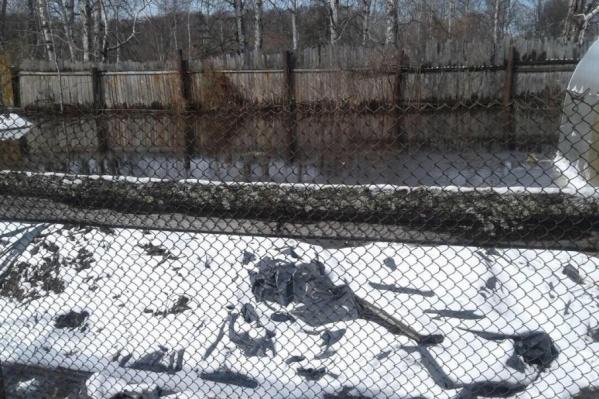 Вода почти добралась до домов на окраине СНТ «Рассвет»
