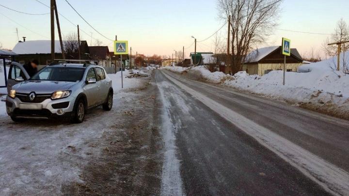 В Самарской области водитель Renault Sandero сбил пешехода на «зебре»