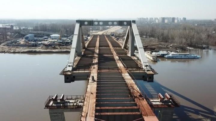 Стройка замерла: самарец снял на видео с высоты недостроенный Фрунзенский мост
