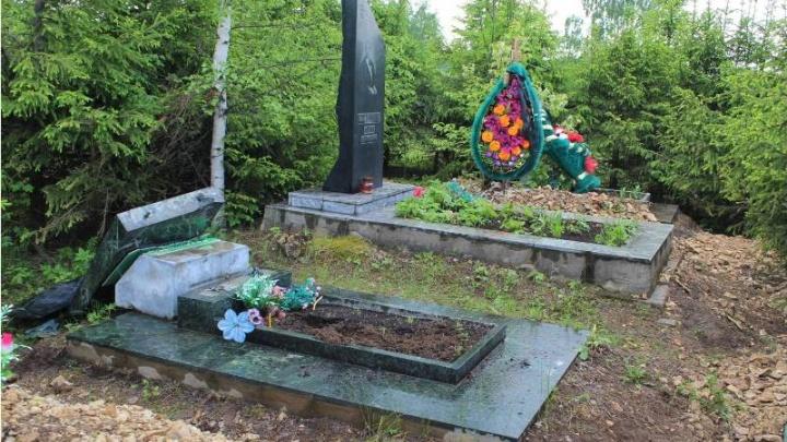 В Чусовом задержали мужчину, разгромившего местное кладбище