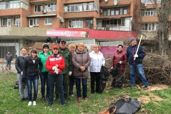 Первого апреля в Ростове прошли субботники