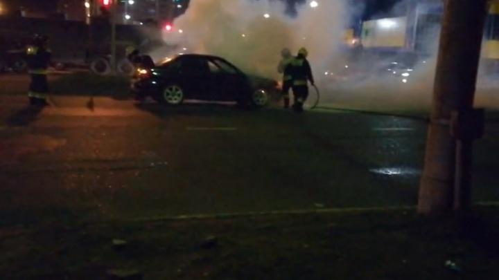 В Брагино на ходу сгорел автомобиль