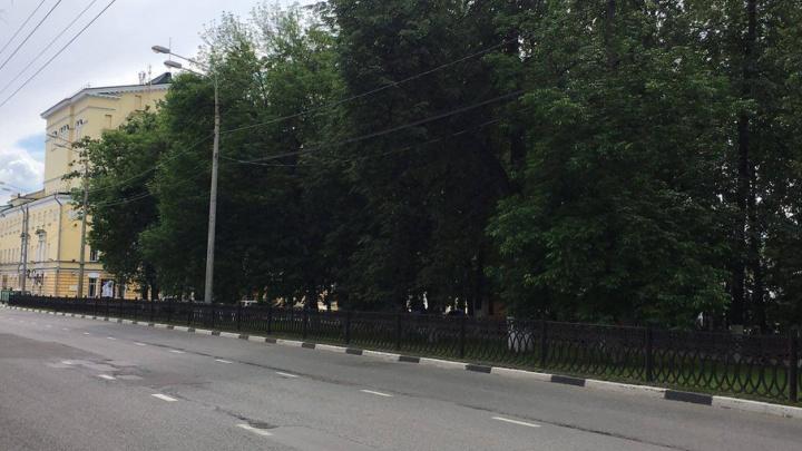 Власти обсудят с ярославцами снос чугунной ограды на центральном бульваре