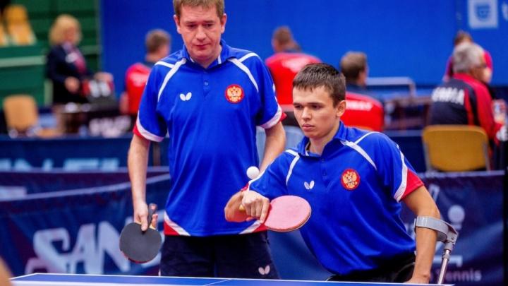 Челябинский спортсмен-колясочник выиграл бронзу чемпионата Европы по настольному теннису