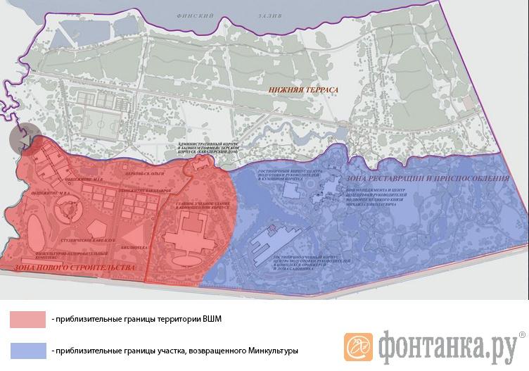 План территории Михайловской дачи