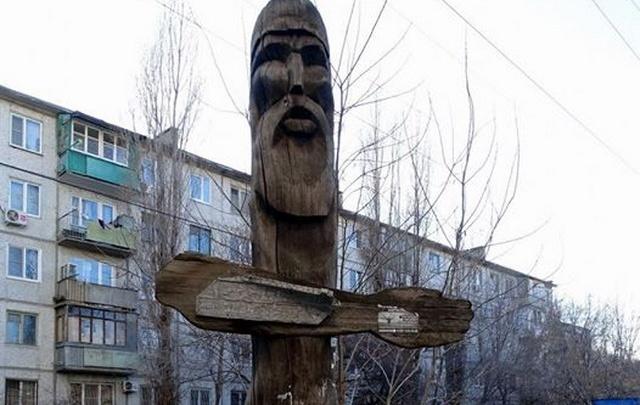 В волгоградских дворах нашли языческих идолов