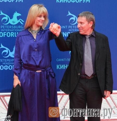 Настасья Кински и программный директор Кинофорума Андрей Плахов