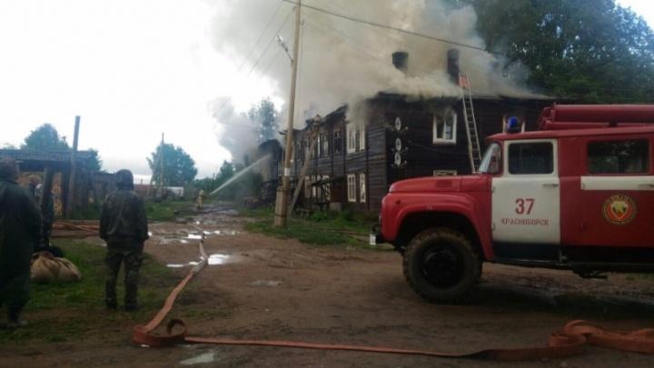 В Красноборском районе пожар оставил без крова 24 человека