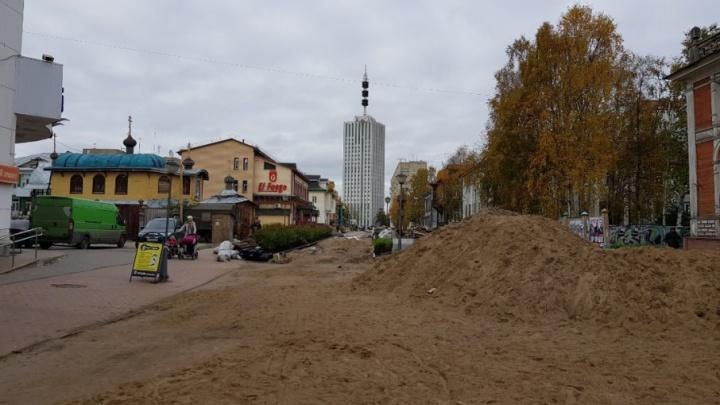 Таскаев не смог: ремонт Чумбаровки в Архангельске в срок не завершили