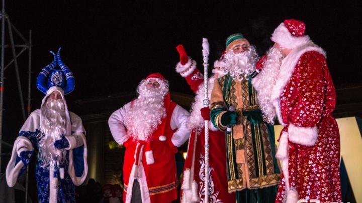 Деды Морозы с рогами и из Великого Устюга: в Самаре официально открыли ледовый городок