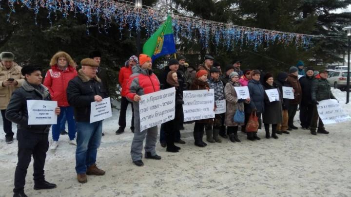 Пермские охотники вышли на митинг против запрета тренировки собак на диких животных