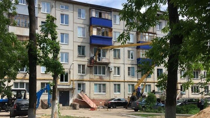 В Новокуйбышевске рухнул балкон пятиэтажного дома
