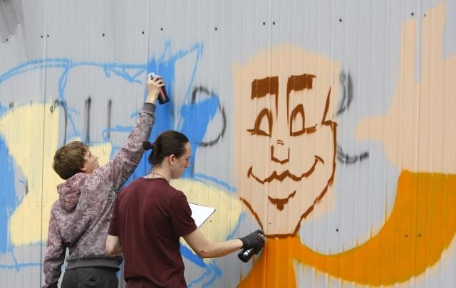 На площади Куйбышева нарисуют граффити в честь воссоединения России и Крыма