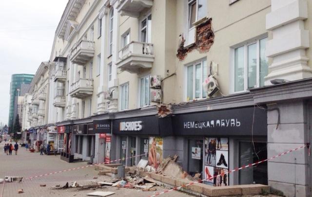 Рухнувший в центре Челябинска балкон останется на подпорках еще минимум год