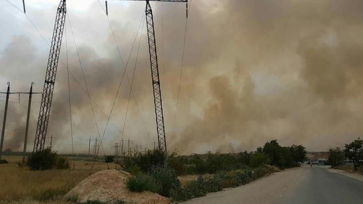 Жители Спартановки задыхались от смога, вызванного дымом степных пожаров