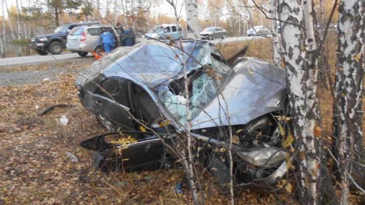 Оба — в кювете: водитель иномарки устроил на Южном Урале смертельное лобовое ДТП