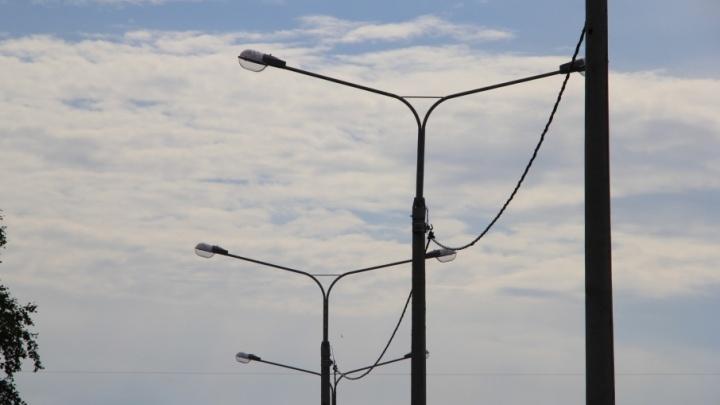 В Архангельске начнут работать все уличные фонари