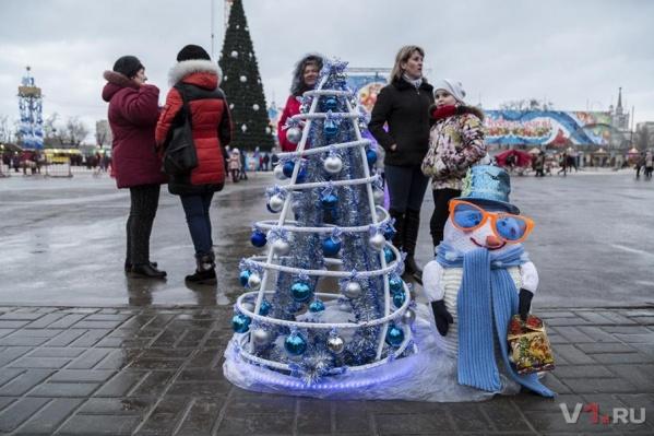В прошлом году на фестивале можно было увидеть бутылочную ёлку, ёлку из грецких орехов и даже живую ёлку-девушку