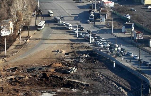 Дорогу на пересечении Московского шоссе и улицы Луначарского перекроют в марте