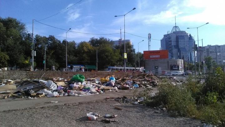 В Самаре снесли рынок около торгового центра «Апельсин»