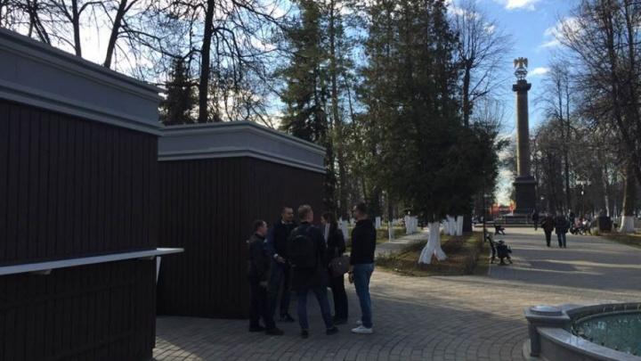 Ярославская градозащитница пожаловалась на киоски в Демидовском сквере в Минкульт