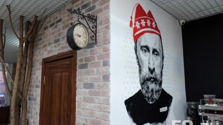 В администрации президента РФ оценили портрет человека, «похожего на Путина», на стене пермского кафе