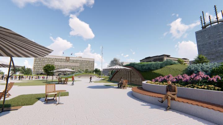Гуляем по новой эспланаде: власти Прикамья показали виртуальную экскурсию по площади у Заксобрания