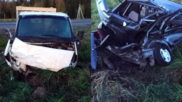 При столкновении двух автомобилей на трассе Пермь–Екатеринбург погиб 40-летний мужчина