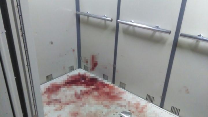 Лифт в крови увидели жители одного из домов на улице Платона Кляты
