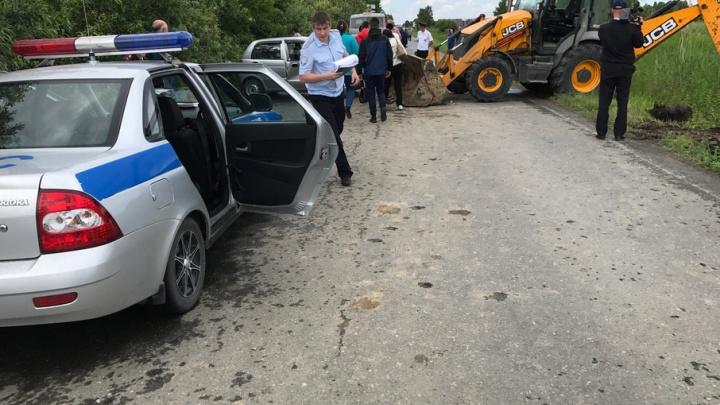 Смертельное ДТП на объездной: пожилой тюменец на Daewoo Matiz врезался в экскаватор-погрузчик