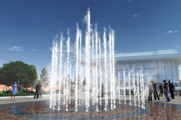 Такой красавец-фонтан появится в Мемориальном парке