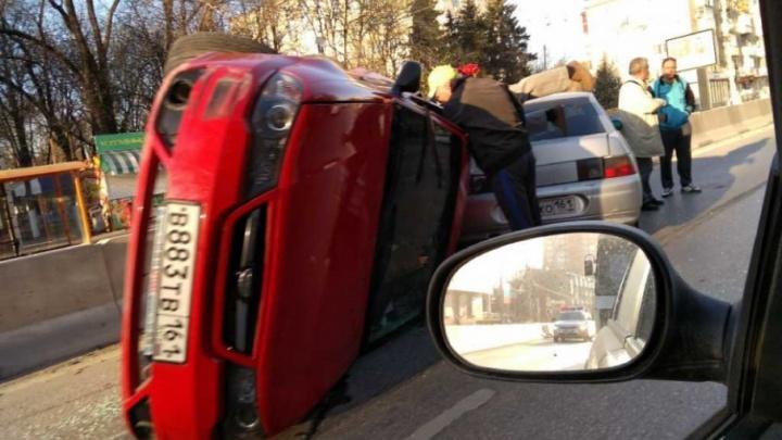 В Ростове-на-Дону произошло массовое ДТП с пятью автомобилями