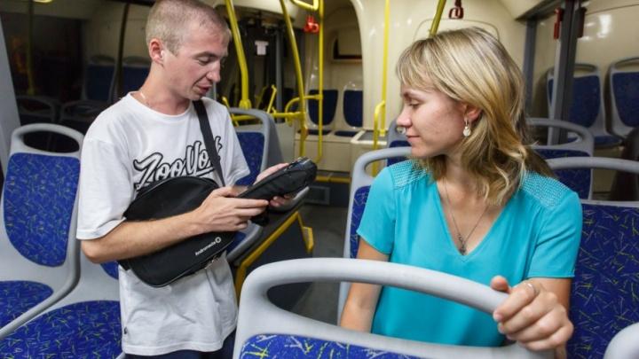 Волгоградцам не дают билетов в новых автобусах