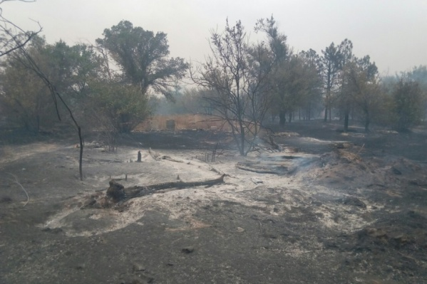 Тушение пожара осложняется отстутствием воды в пойме