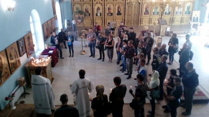 В храме Похвалы Богородицы отпели всех погибших байкеров Волгограда
