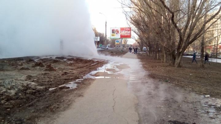 Специалисты приступили к ликвидации прорыва теплосети на Стара-Загоре
