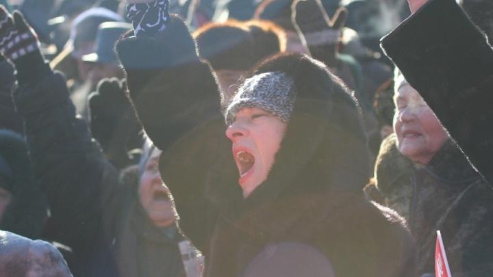 Митингующих за возврат льгот пенсионеров вновь отправили в сквер «Родина»
