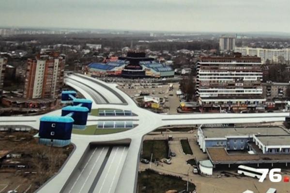 Один из вариантов строительства транспортной развязки