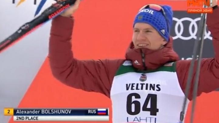Тюменский лыжник Александр Большунов финишировал вторым в гонке на 15 км на этапе Кубка мира