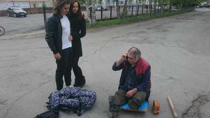 Не смогли пройти мимо: челябинцы нашли родных бездомного инвалида и отправили его в Нальчик