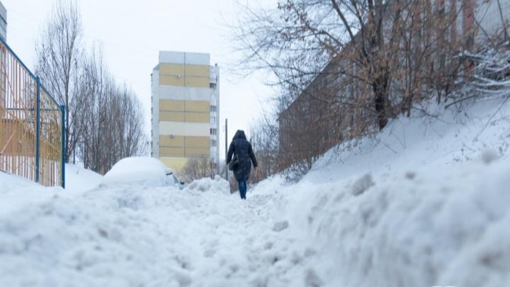 Управляющие компании Кировского района заставляют убирать снег во дворах