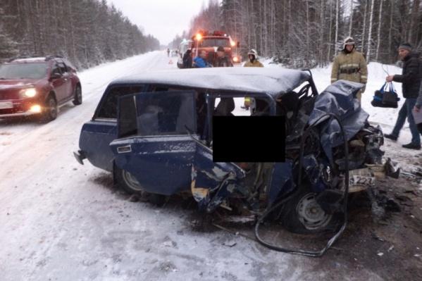 Авария произошла около 13:30 на 182-м километре автодороги Архангельск — Каргополь — Вытегра