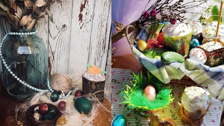 Матрешки, розы, птичьи гнезда: смотрим, как дончане украшали яйца и куличи
