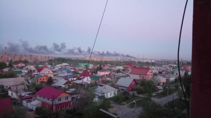 Густой дым в районе ТЭЦ-2 встревожил челябинцев
