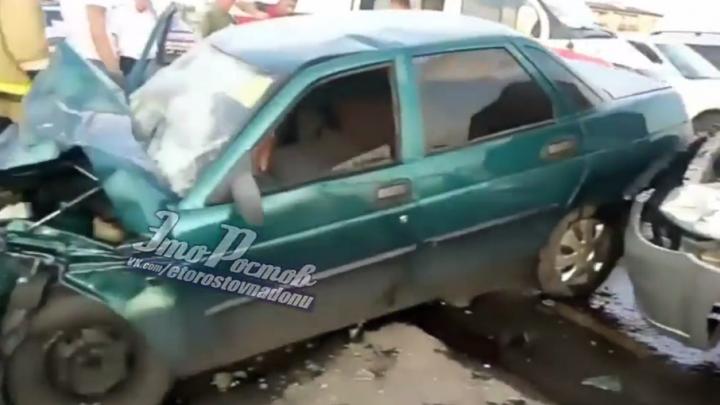 На Мариупольском шоссе в Таганроге из-за упрямства водителя произошло ДТП