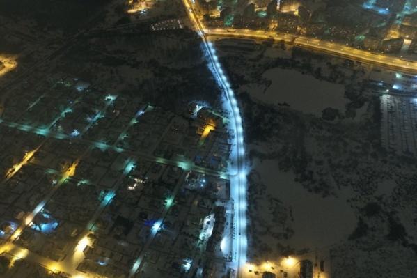 Голубая ветка — и есть улица Красноборская, которая горела недолго